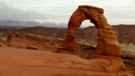 Time lapse close up Delicate Arch Utah video