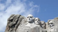 Time lapse close up Mt. Rushmore Presidents video