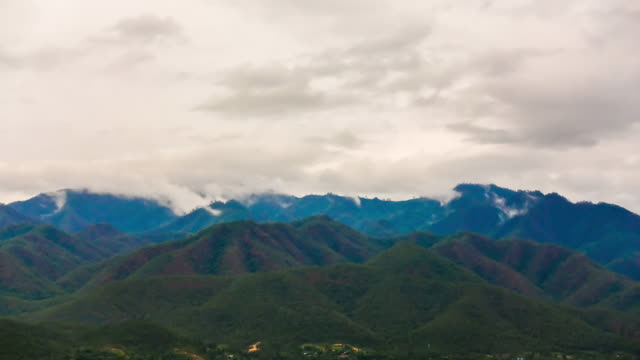 Time lapse cloud and mountain view in Mae hong son Thailand video