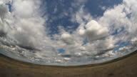 Time lapse clouds  animation. Fish eye lens video