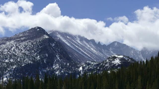 Time lapse clouds Longs Peak Rocky Mountain National Park Colorado video