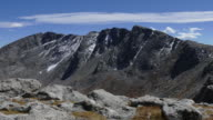 Time lapse clouds Mount Evans from Spalding Rocky Mountains Colorado video