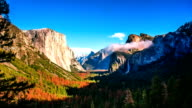 Time Lapse - Clouds Moving Over Yosemite Valley, California, USA video