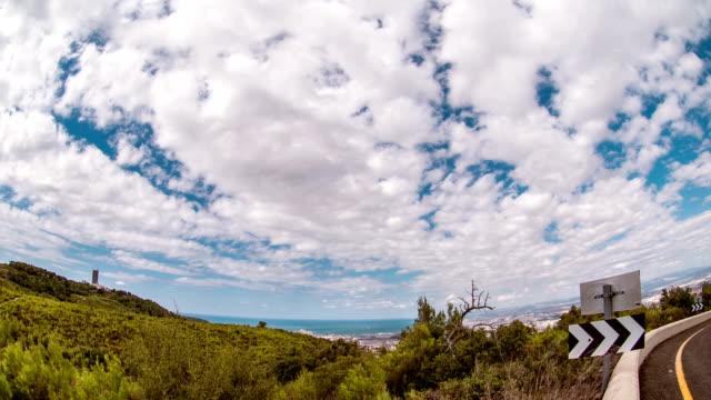 Time lapse Clouds over Carmel mountain, Haifa Israel video