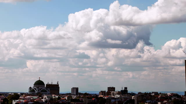 Time Lapse Clouds Over City video
