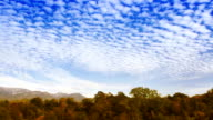Time Lapse clouds over the autumn forest video