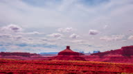 Time Lapse - Cloudscape Moving Over Butte at Monument Valley video