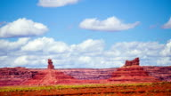 Time Lapse - Cloudscape Moving Over Monument Valley video