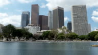 Time lapse cloudy Downtown Los Angeles skyline video