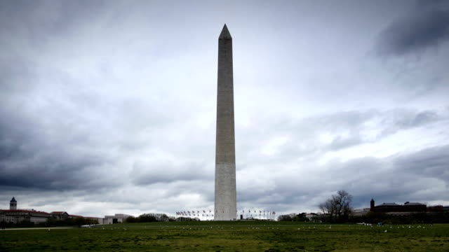 Time Lapse - Cloudy Washington Monument video