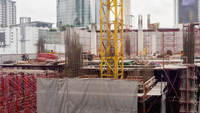Time Lapse Construction : 4K TIME LAPSE (4096x2160) : The construction site (Apple ProRes. 422(HQ)) video