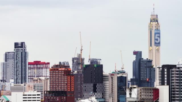 Time Lapse Construction : Construction crane time lapse. video