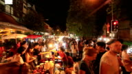Time Lapse: Crowd at market walking street in Chiang Mai video