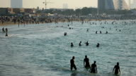 time lapse crowd in Jumeirah Beach video
