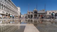 Time Lapse Crowd of Tourist at Basilica di San Marco Venice Italy video