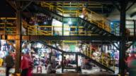4K Time Lapse : crowd shopping in Yogyakarta video