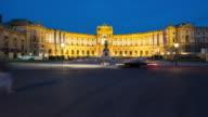 Time Lapse, Crowd waking at Heldenplatz at dusk, Vienna video