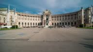Time Lapse, Crowd waking at Heldenplatz (Heroes' Square), Vienna video