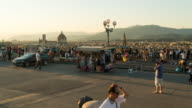 Time Lapse, Crowd walking at Piazzale Michelangelo, Florence video