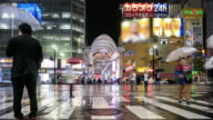 4K Time Lapse : crowded shopping at hondori video