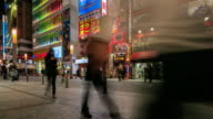 4K Time Lapse : Crowds in Akihabara. video