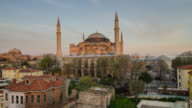 Time Lapse Day to Night at Hagia Sophia, Istanbul video