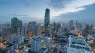 Time Lapse Day to Night Cityscape Of Bangkok City, Thailand video