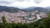 Time Lapse day to night of the city of Bilbao video