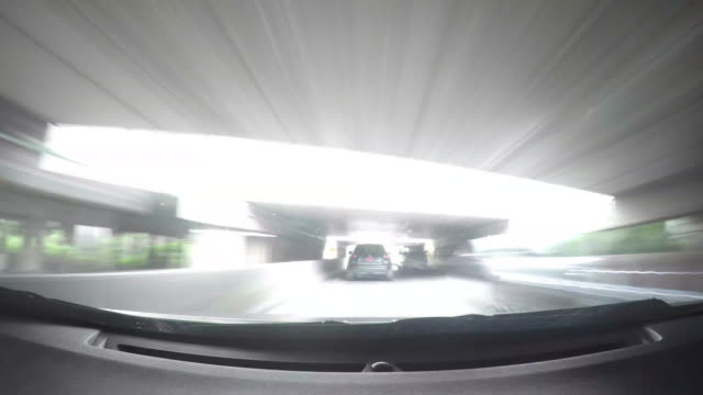 4K Time lapse driving car on road video