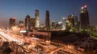 Time Lapse- Elevated View of Beijing CBD (WS Panning) video