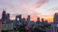 Time Lapse- Elevated View of Beijing Skyline at Dusk (WS) video