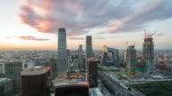 Time Lapse- Elevated View of Beijing Skyline (WS HA Panning) video