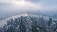 Time Lapse- Elevated View of Shanghai Skyline (WS HA Zoom in) video