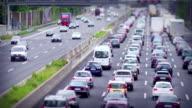 Time Lapse: Four Lane Traffic Jam, Copy Space, Shift Tilt video
