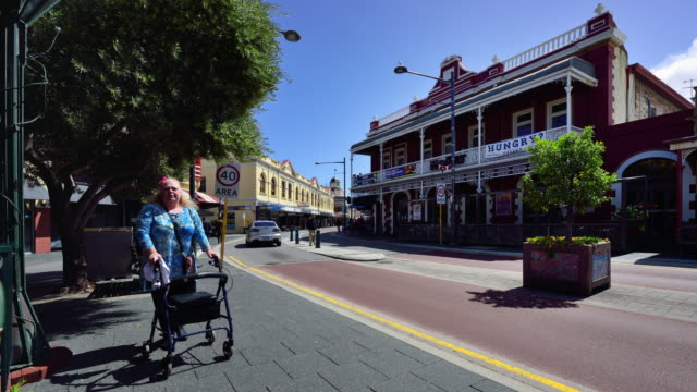 4K Time Lapse: Freemantle's Streets, Perth, Western Australia video