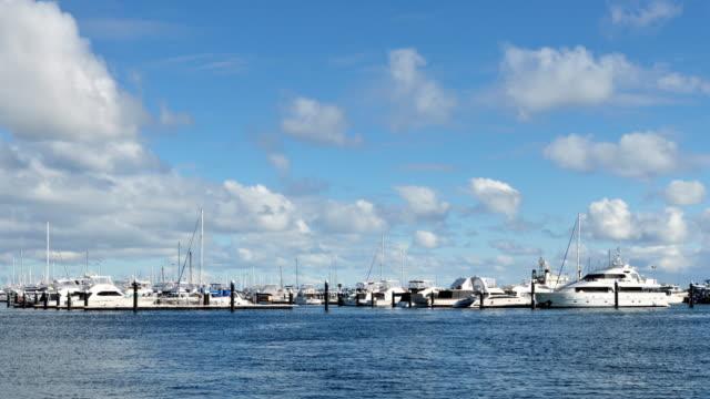 4K Time Lapse - Fremantle's Yacht Harbour, Perth, Western Australia video