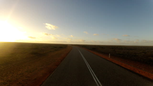 Time lapse from driving through Western Australia during sunset video