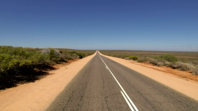 Time lapse from flat landscape and driving through Western Australia video