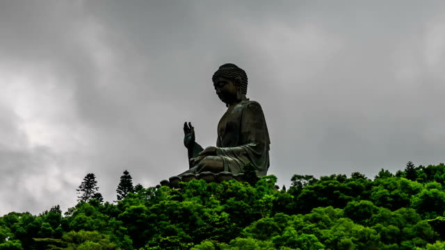 HD Time lapse : Giant Buddha in Hong Kong video