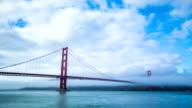 Time Lapse - Golden Gate Bridge in Fog video