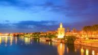 4K Time Lapse : Golden Tower in Sevilla Spain video