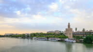 Time Lapse : Golden Tower in Sevilla Spain video