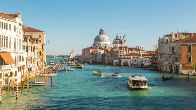 Time Lapse: Grand Canal and Santa Maria della Salute in Venice Italy. video