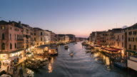 Time lapse Grand Canal at Venice video