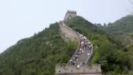 time lapse great wall of china tourists video