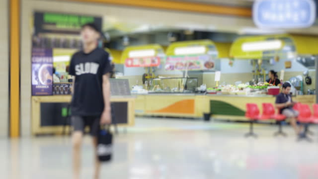 4K time lapse group of people have walking and buy something at shopping mall video