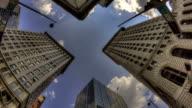 Time lapse HDR Cincinnati skyscraper video