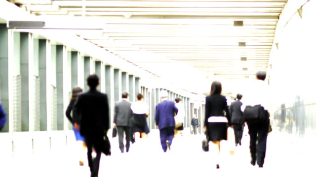 Time lapse - High contrast walking people video