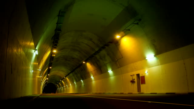 Time lapse highway driving through the tunnel video