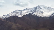 4K Time lapse: Himalaya snow mountain in cloudy day video